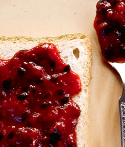 Strawberries and Passion Fruit jam on toast