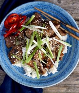 a bowl of pork bulgogi