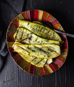 grilled squash on a plate