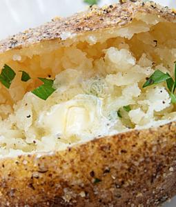 baked potato on a plate