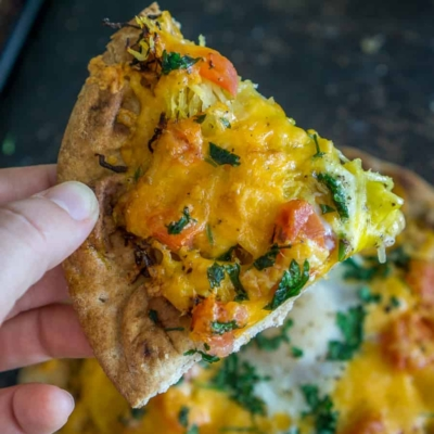 Veggie-Loaded Brunch Flatbread