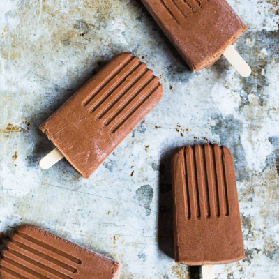 Boozy Bourbon Chocolate Popsicles