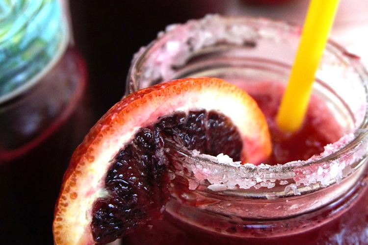"""Beet"" the Heat: Beet Juice, Blood Orange, and Lime Slushy Virgin Margarita"