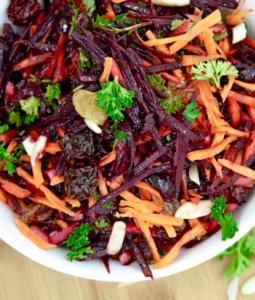 Beet Carrot Raw Slaw