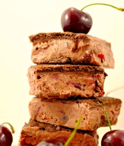Healthy Black Forest Ice Cream Sandwiches