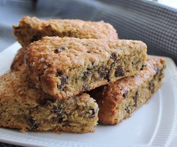 Oatmeal Peanut Butter Chocolate Chips Scones