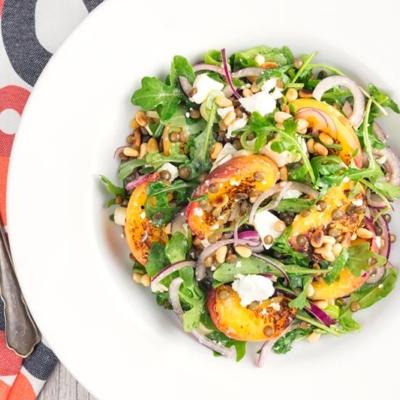 Peach and Feta Cheese Salad