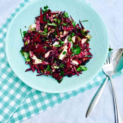 Organic Black Bean, Fennel and Red Cabbage Salad