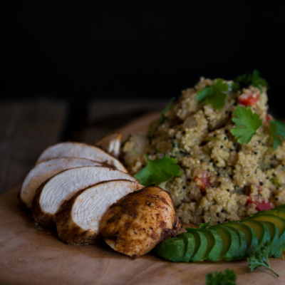 Cajun Chicken with Quinoa Salad Meal Prep