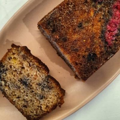 Keto Berrynana Cake Loaf