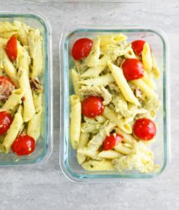 Creamy Chicken Pesto Pasta Salad