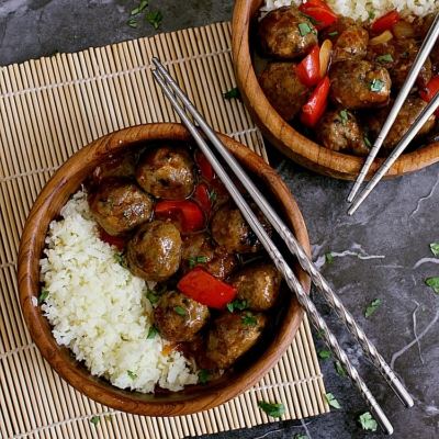 Keto Sweet and Sour Meatballs