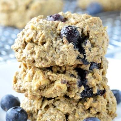 Lemon Blueberry Breakfast Cookies