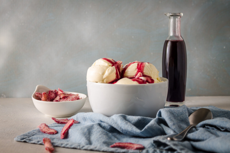 Red Wine Rhubarb Syrup