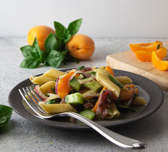 Apricot and Prosciutto Pasta Salad
