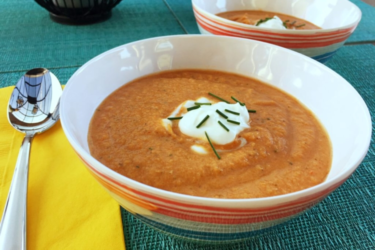 Chilled Roasted Pepper Soup