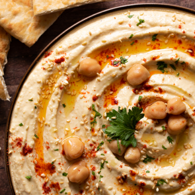 Hummus with Toasted Sesame Seeds
