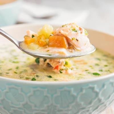 Slow Cooker Salmon Chowder