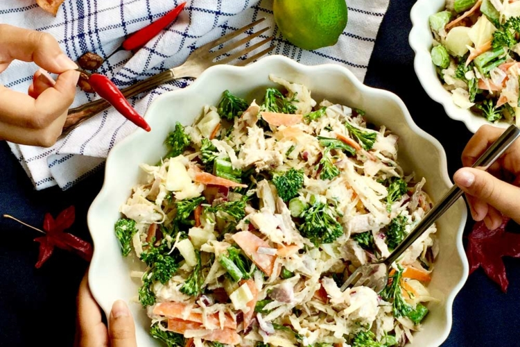 Broccolini and Roasted Chicken Salad