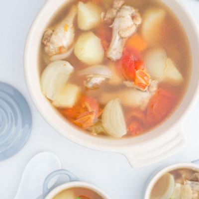 Thai Potato Soup with Chicken Drumettes