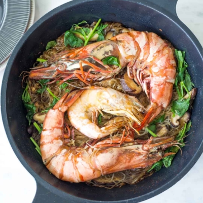 Thai Shrimp and Glass Noodles | Goong Ob Woonsen