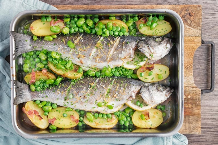 Tray Baked Whole Sea Bass