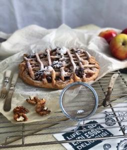 Apple Walnut Pizza Pie