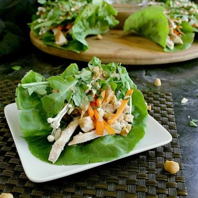 Keto Chicken Lettuce Wraps