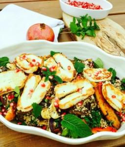 Roast Vegetables and Pomegranate Salad