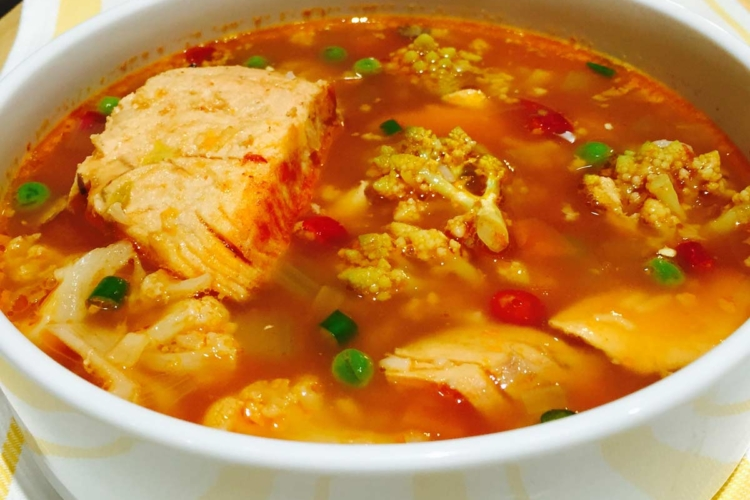 Organic Veg & Fish Soup