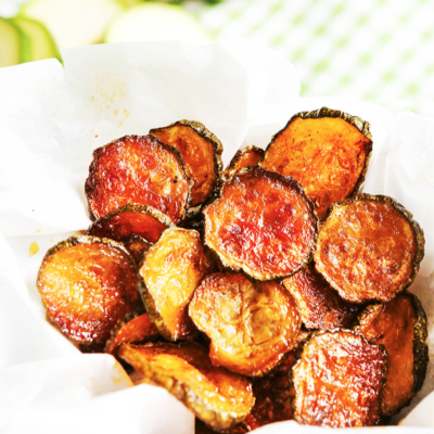 Easy Baked Zucchini Chips Recipe