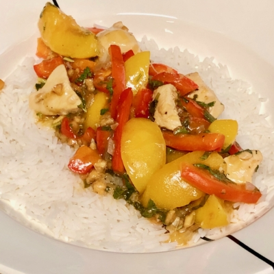sweet&sour Thai chicken with peaches