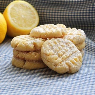 Lemon Icebox Crumble Cookies