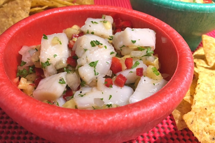 Scallop Pineapple Ceviche