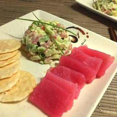 Tuna Tataki with Avocado Slaw