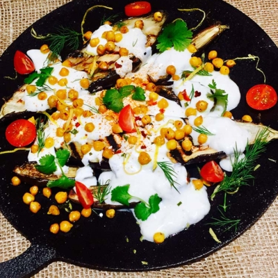 Baked Aubergine with Cumin and Yoghurt
