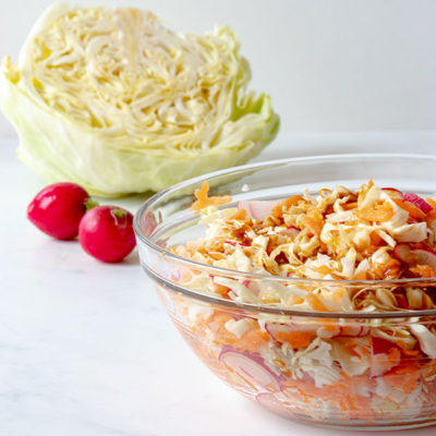 Cabbage Salad with Teriyaki Dressing