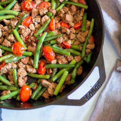 Balsamic Turkey Skillet with Green Beans