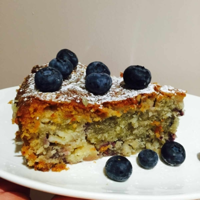 Pineapple Berries and Coconut Cake