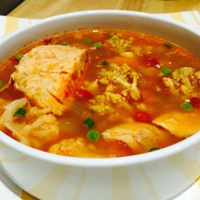 Organic Vegetable Fish Soup