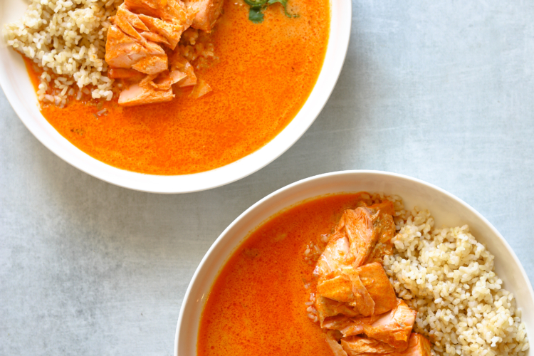 Coconut Curry Braised Salmon
