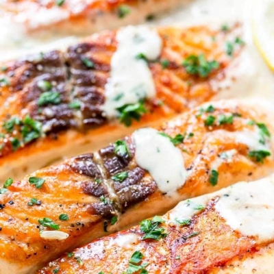 Creamy Garlic Salmon