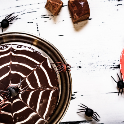 Halloween Cake with Mascarpone & Chocolate