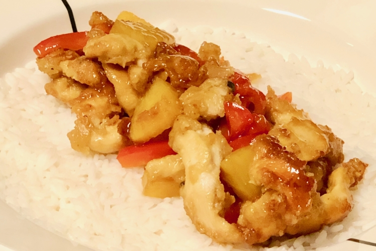Sweet & Sour Fried Chinese Chicken