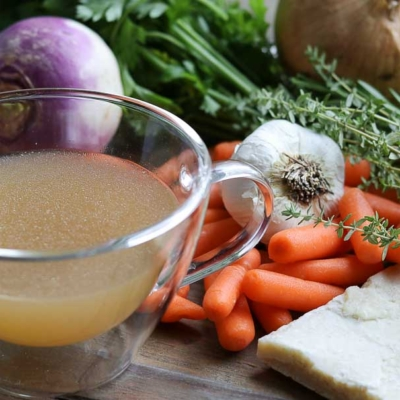 Easy Instant Pot Parmesan Chicken Broth