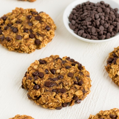 Pumpkin Chocolate Chip Oatmeal Cookies (Vegan & Gluten-Free)