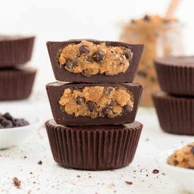Chocolate Chip Cookie Dough Cups (Vegan & Gluten-Free)