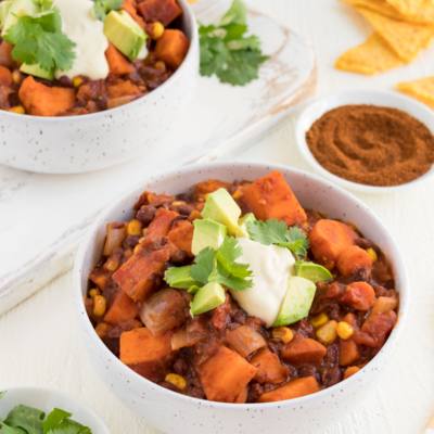 Vegan Sweet Potato Black Bean Chili