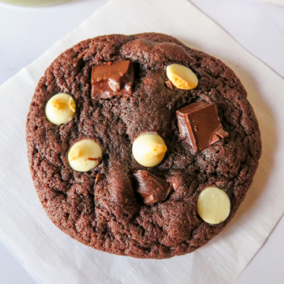 Chewy Triple Chocolate Cookies