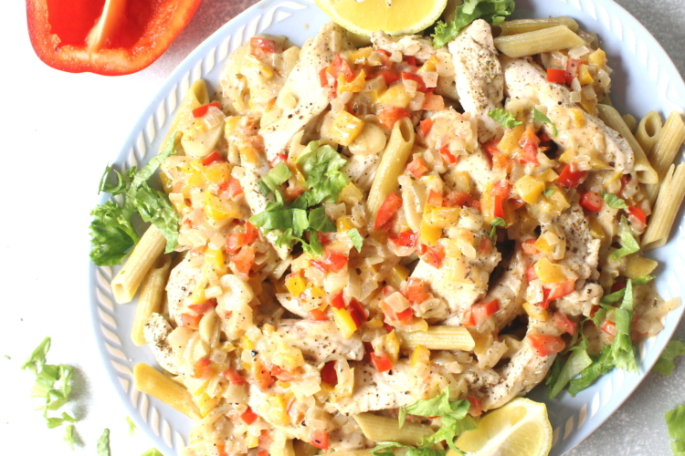 Baked Chicken Pasta with Coconut Sauce